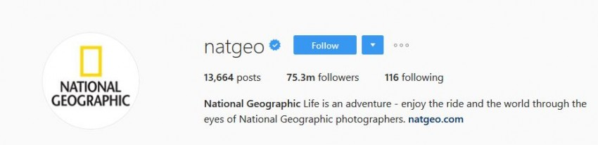 Most Followed Instagram Accounts - natgeo