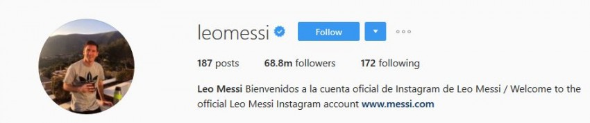 Most Followed Instagram Accounts - leomessi