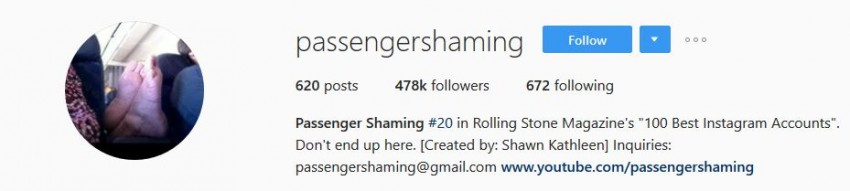 Best Instagram Accounts - passengershaming