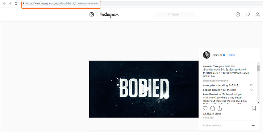 Embed Instagram - Copy Instagram Video URL