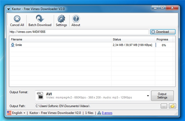 How to Download Vimeo to MP4 with High Quality - Kastor Free Vimeo Video Downloader