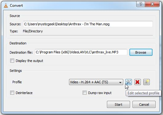 How to Extract Audio from MP4 on Windows and Mac - Specify the Name and Path