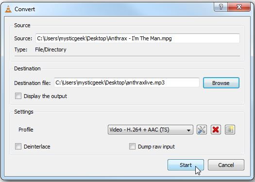 How to Extract Audio from MP4 on Windows and Mac - Start Conversion