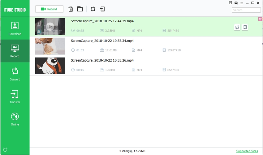record skype video calls - check the recorded video
