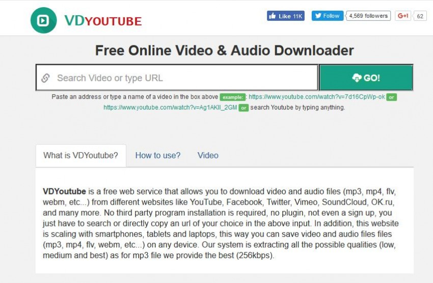 Video Downloader for Tumblr - VD YouTube