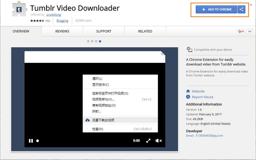 All Ways to Download Videos from Tumblr - Add Downloader Extension to Chrome