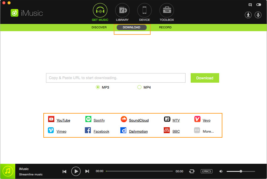 Download MP3 from Tumblr - Install and Start iMusic