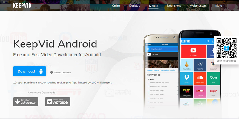 Download Vimeo Streams - Keepvid Android