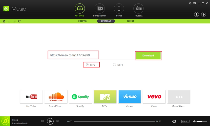 download audio from vimeo - Step 3
