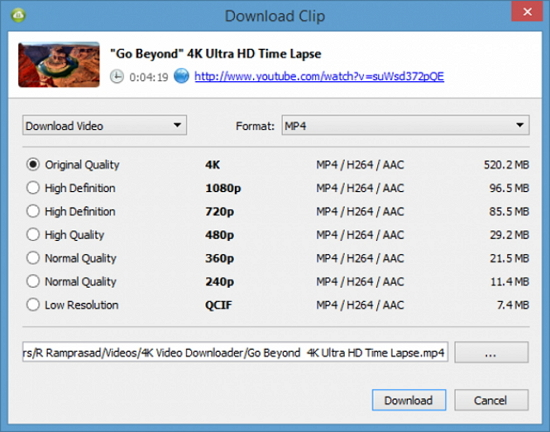 download audio from vimeo - 4K Video Downloader