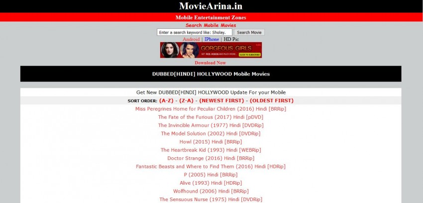 site to download movies in avi format