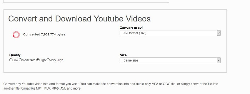 Convert YouTube Videos to AVI Online - Start Converting YouTube Video