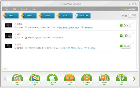 YouTube to AVI Downloaders - Freemake Video Converter