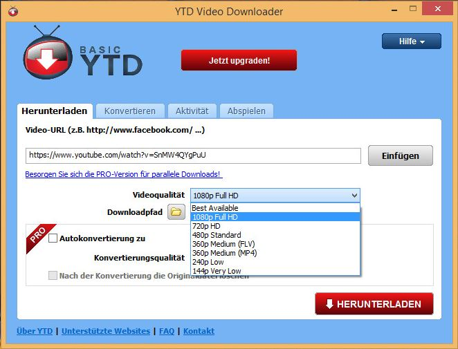 YouTube to AVI Downloaders - YTD