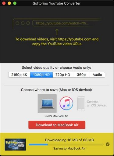 YouTube to AVI Downloaders - Softorino YouTube Converter