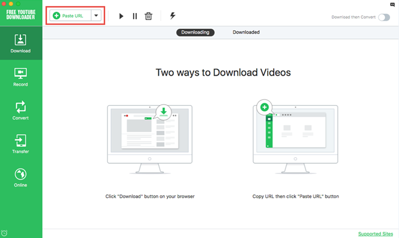 download youtube via url