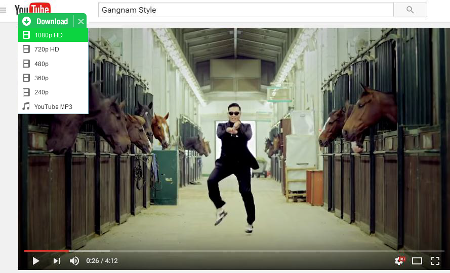 download gangnam style videos in 1 click