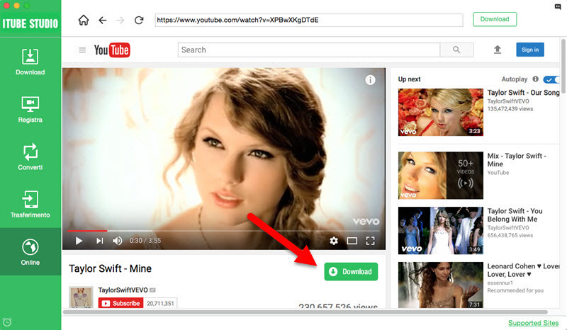 download videos with built-in browser