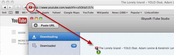 download videos by dragging url