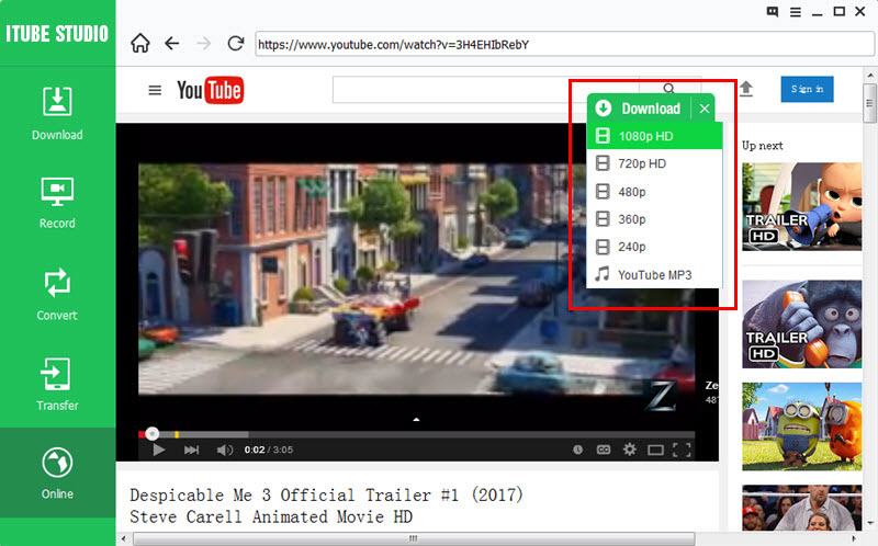 youtube to mov converter