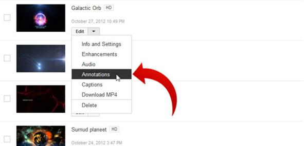 add annotations to youtube videos