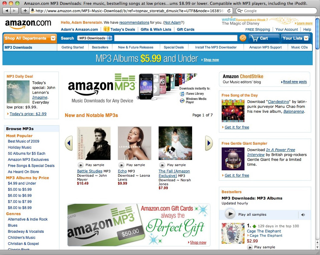Amazon download mp3 songs