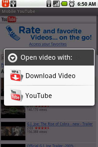 youtube videos on mobile for free
