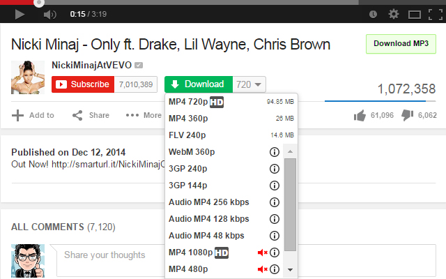 youtube mp3 downloader chrome extension
