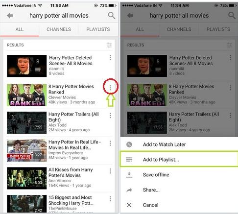 how to edit playlist on youtube app