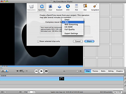 how to upload videos to youtube from imovie