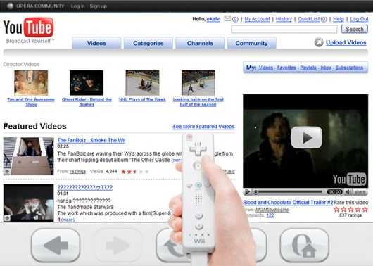 play youtube on wii