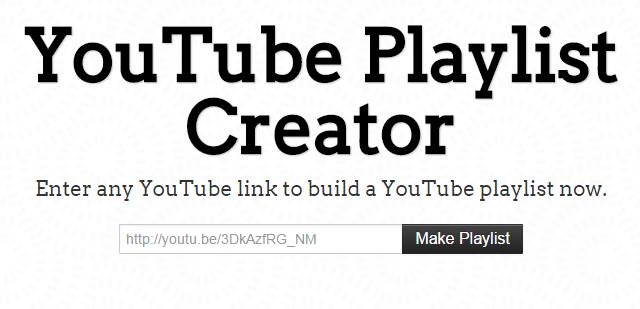 youtube playlist creator