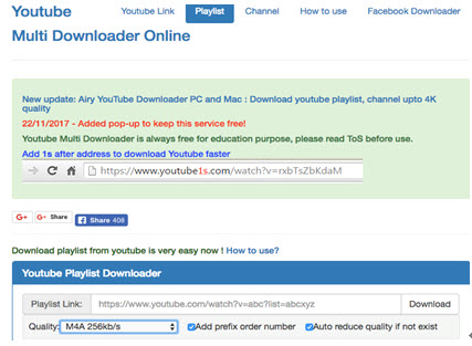 download youtube online playlist