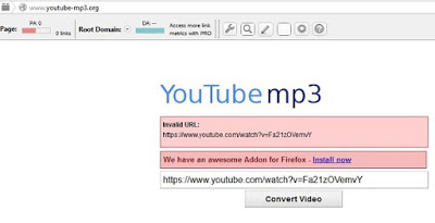 can't convert youtube to mp3
