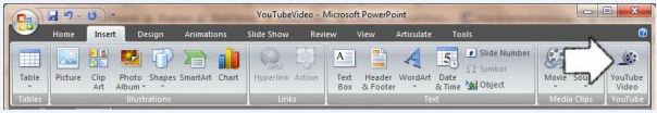 mettre une video youtube sur powerpoint